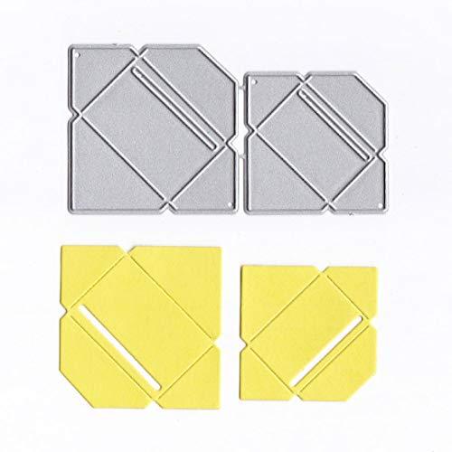 Stanzmaschine Stanzschablonen, FNKDOR Metall Prägeschablonen Scrapbooking Schablonen Stanzformen, für Sizzix Big Shot/Cuttlebug / und Andere Embossing Machine (H)