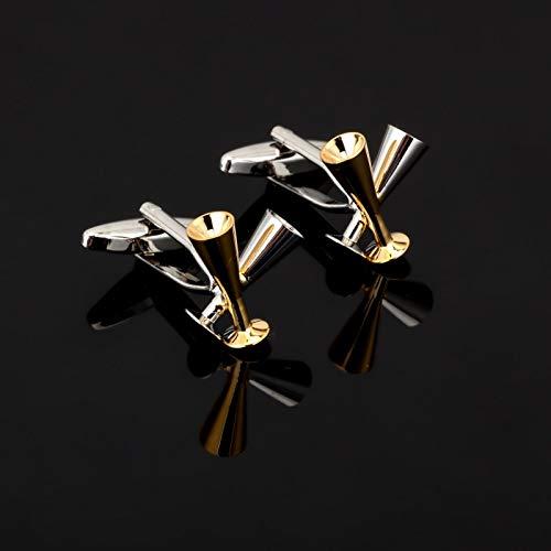 XKSWZD Gemelos de Copa de Vino de diseño Camisa de Copa de Vino Tinto Clips de Corbata para Hombre Puños d