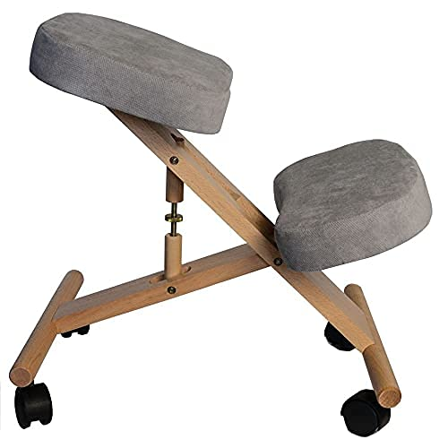 Professional Ergonomic Kneeling Chair Orthopedic Correcting for Bad Backs...