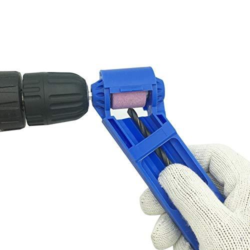 Herramientas de carpinteríaHerramientas de carpintero Sacapuntas Broca de desgaste portátil Resistiendo caña recta Muela taladro eléctrico auxiliar (Color : Blue)
