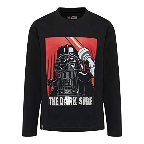 LEGO Wear Jungen Star Wars cm ein langärmliges T-Shirt, schwarz (schwarz 995), (Größe: 104 cm)