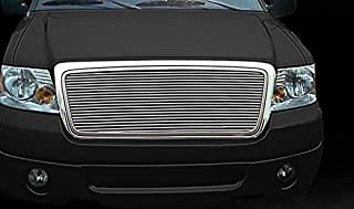 Fits 04-08 Ford F-150 (Original Shell has to be Honeycomb) Bolton Upper 1PC Horizontal Billet Polished Aluminum Grille Grill Inser