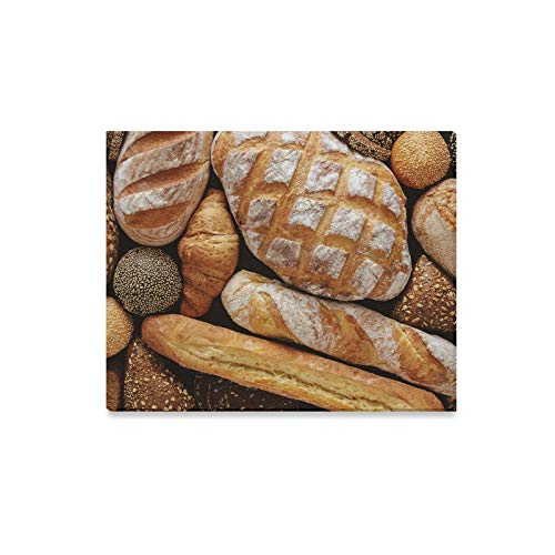 Yuejh Bathroom Decor Wall Art Delicious Whole Wheat Bread Paint Wall Protector Outdoor Wall Art Print Decor for Home 20x16 Inch