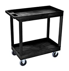 Multipurpose utility cart ideal for use as serving or storage cart, garden wagon, and more. Maximum weight capacity of 500 lbs Shelves and legs are constructed with an injection molded thermoplastic resin, which will not stain, scratch, dent or rust ...