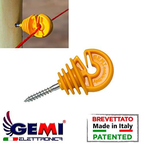 Gemi Elettronica Isolatori Pali in Legno per Recinti Elettrici Recinzione Elettrificate Recinto Elettrico 100 Pezzi