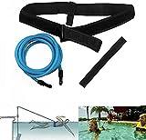 Queta Cinturón de Entrenamiento de natación Cuerda Piscina Nadar Adjustable Cinturón de...