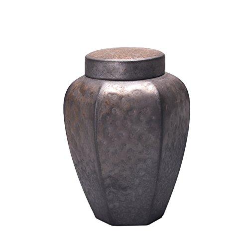 Vaso di porcellana,Canister de thé,Coffres de stockage de thé,Service à thé Boîtes de thé rétro Accessoires de cérémonie du thé à la main-A 9x12cm(4x5inch)