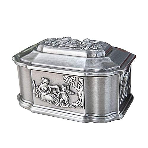 erddcbb Joyero Caja de joyería Cofre Estilo Europeo Caja de joyería Vintage Patrón de ángel Organizador de Caja de joyería Creativa