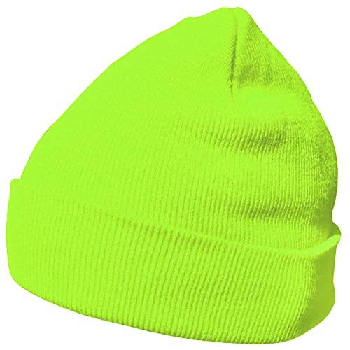 berretto giallo fluo DonDon Berretto invernale morbido e caldo dal design moderno giallo neon
