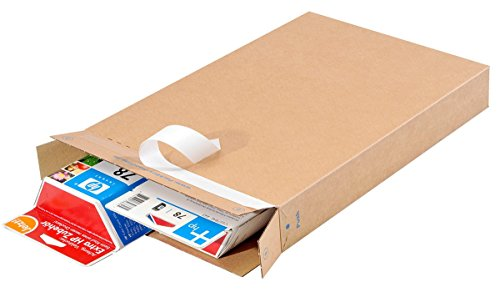 25 St PACKBOX PB40 Maxibriefkarton DIN A4 Versandschachtel braun selbstklebend 353x250x50 mm Faltkarton briffähig