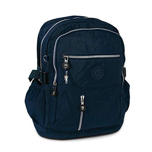 Bag Street D3OTJ604X - Zaino in nylon, unisex, 30 x 18 x 38 cm, colore: Nero, blu navy (Blu) - D3OTJ604B