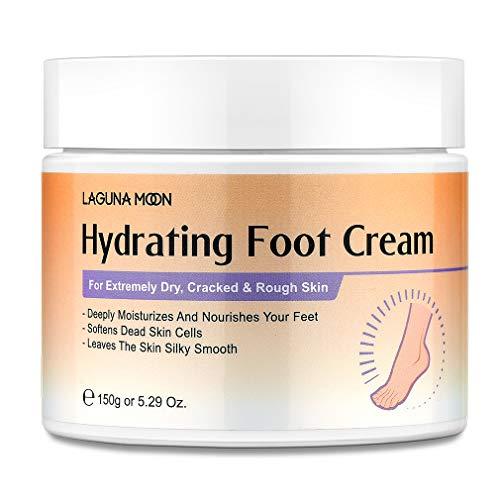 Lagunamoon Fußcreme für trockene, rissige Füße, Harnstoff, Vitamin E und Hyaluronsäure Fußfeuchtigkeitscreme für trockene, raue, schwielige, rissige Füße reparieren und...