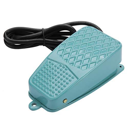 Interruptor de pedal, interruptor de pie, TFS-2 Interruptor de pedal de reinicio eléctrico de aleación de aluminio antideslizante AC 250V 10A SPDT