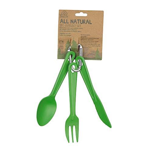 BIOZOYG EcoSouLife Cutlery I Cubiertos de bambú I Vajilla de bambú I...