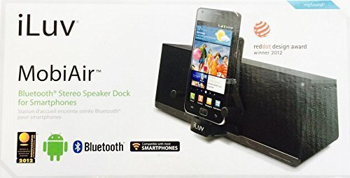iLuv IMM377BLK MobiAir drahtlose Bluetooth Lautsprecher-Dock