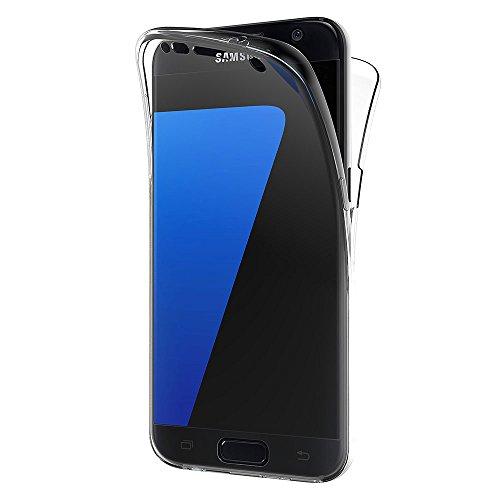 AICEK Samsung Galaxy S7 Hülle, 360°Full Body Transparent Silikon Schutzhülle für Samsung S7 Hülle Durchsichtige TPU Bumper S7 Handyhülle (5,1 Zoll)