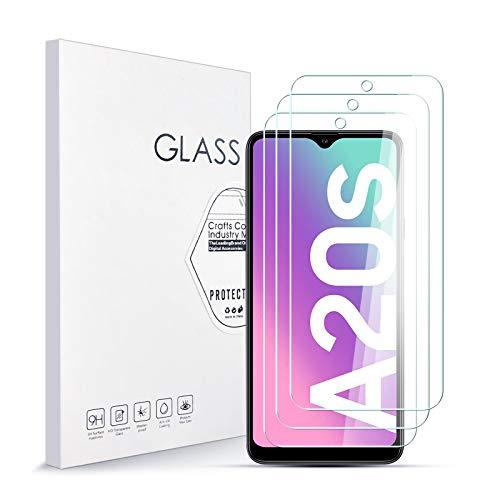 Vetro Temperato Pellicola Protettiva per Samsung A20S [3 Pezzi] Durezza 9H, 2.5D Alta Definizione Protezione Schermo per Samsung A20S Preciso Installazione Senza Bolle