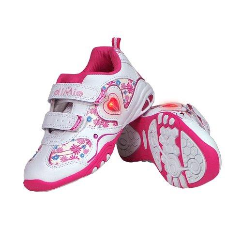 diMio Stella - LED Kinderschuhe/Sneakers mit Blinklicht für Mädchen, mit Klettverschluss - Blinkschuhe [EU 30]