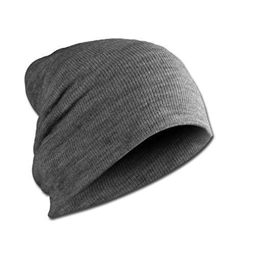 PURECITY© Produit Original - Bonnet Long Street Wear Beanie Homme Femme - Mode Tendance Fashion Ski Snow Surf Hiver Protection (Gris)