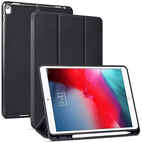 Migeec Hülle für iPad Air 10,5 2019 (3.Generation) und iPad Pro 10,5 2017 Ultradünne Superleicht Schutzhülle mit Auto Schlaf/Wach Funktion, Schwarz