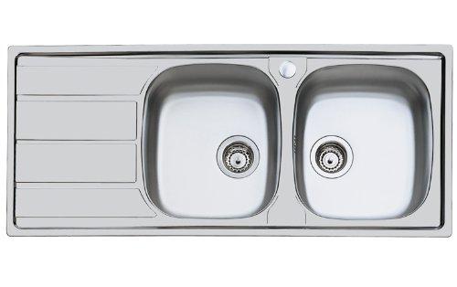 Foster S1000 116.2V.3,5 .STD Acero inoxidable - Fregadero (Acero inoxidable, Acero inoxidable, 2 senos, 360 x 400 mm, 360 x 400 mm, 8,89 cm (3.5 ))