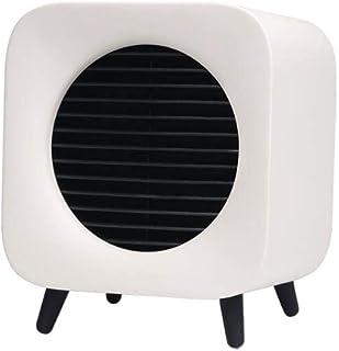 FGHTL Portátil Calefactor Eléctrico, Escritorio Invierno Ventilador, Ventilador Calefactor Eléctrico Cerámica, 2 Configuraciones Temperatura, Silencioso, Dormitorio Oficina en casa(700W) Yellow