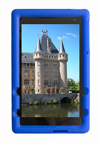 BobjGear Bob Rugged Tablet Case for Dell Venue 8  Pro Model 5855 – Silicone Tablet Cover (Batfish Blue)