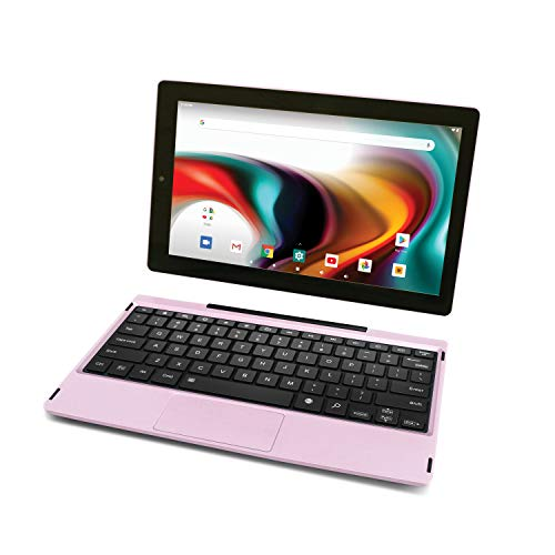 """RCA 11 Delta Pro 11.6 Inch Quad-Core 2GB RAM 32GB Storage IPS 1366 x 768 Touchscreen WiFi Bluetooth with Detachable Keyboard Android 9.0 Tablet (11.6"""", Pink)"""
