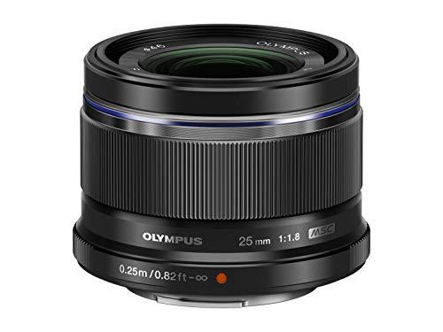 Olympus M.Zuiko Digital 25mm F1.8 Objektiv, lichtstarke Festbrennweite, geeignet für alle MFT-Kameras (Olympus OM-D & PEN Modelle, Panasonic G-Serie), schwarz