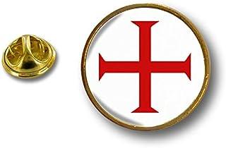 Spilla Pin pin's Spille spilletta Giacca Bandiera Badge templare Templari r2