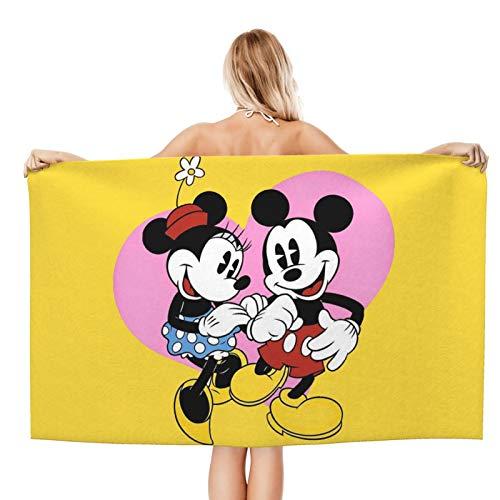 Toalla de baño de Mickey Mouse para niños, playa, natación, hotel, suave, extra grande, fibra superfina para niñas y niños, 32 x 52 pulgadas