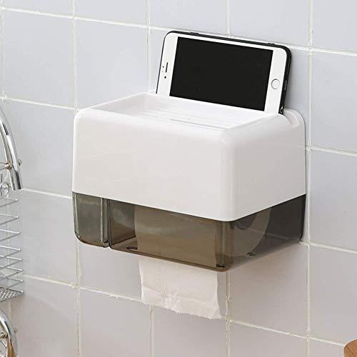 WTT toiletpapierhouder Home eenvoudig en comfortabel zuignap Free Punching Wand-toiletpapier-opbergdoos (grootte: A)
