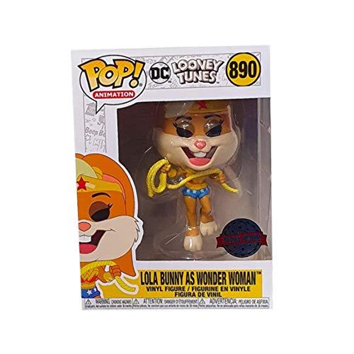 POP Funko DC Looney Tunes # 890 Lola Bunny como Wonder Woman, edición Especial Exclusiva