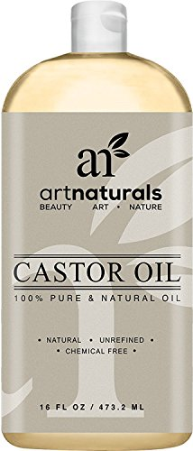 ArtNaturals Aceite de ricino 100% puro y natural 16 onzas - Mejor aceite de masaje e hidratante para el cabello y la piel ArtNaturals 100% Pure & Natural Castor Oil 16 ounce - Best Massage Oil & Moisturizer for Hair and Skin