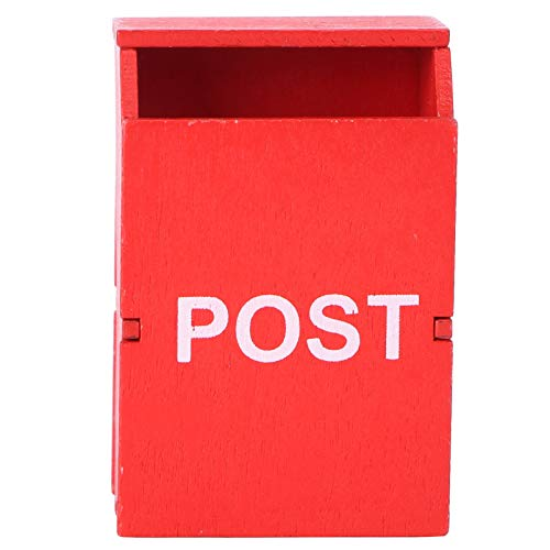 TOYANDONA Miniature Mail Box DIY 1:12 Dollhouse Furniture Letter Box Fairy Garden Country Post Box Figurine Mini House Accessory for Kids Pretend Play Gift Red