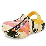 Toddler Girl Sandals flip Flops Graffiti Girls Clogs/Spring/Summer Toddler Boys Kids Beach/Water ski Shoes/Non-Slip Summer Slippers Unicorn Cartoon (yellow160)
