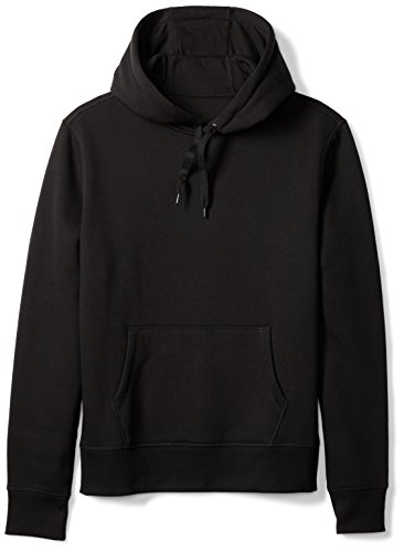 Amazon Essentials Men's Hooded Fleece Sweatshirt, Black, Large