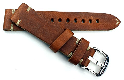 RIOS 1931 Herren Leder Uhrenarmband Vintage 20mm