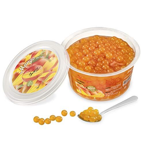 Original Popping Boba Fruchtperlen für Bubble Tea - 450g - Mango - Ohne künstliche Farbstoffe, echte Fruchtsäfte - Weniger Zucker - 100% Vegan und Glutenfrei