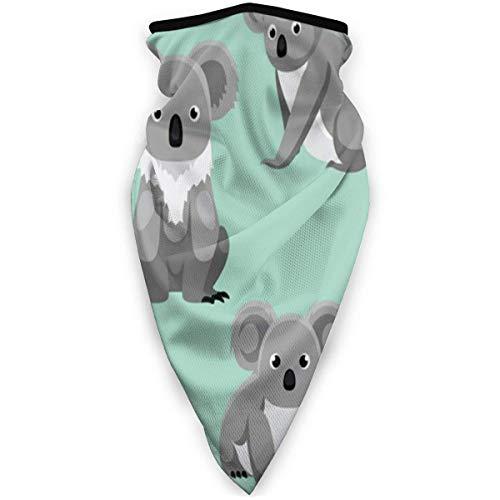 Niedlicher Koala Sieben Posen Cartoon Natur Sturmhaube Stirnband Winddicht Verstellbarer Gesichtsschal Halswärmer Schal Bandana für Unisex