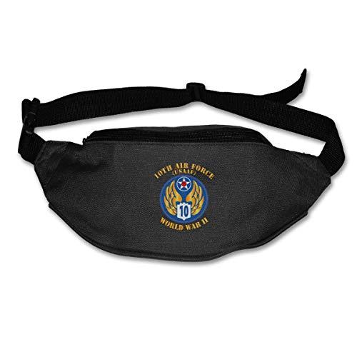 Riñonera Deportivo Bolso Cintura Cinturón Ajustable Running Belt Bolsa de Correr AAC décima Fuerza aérea
