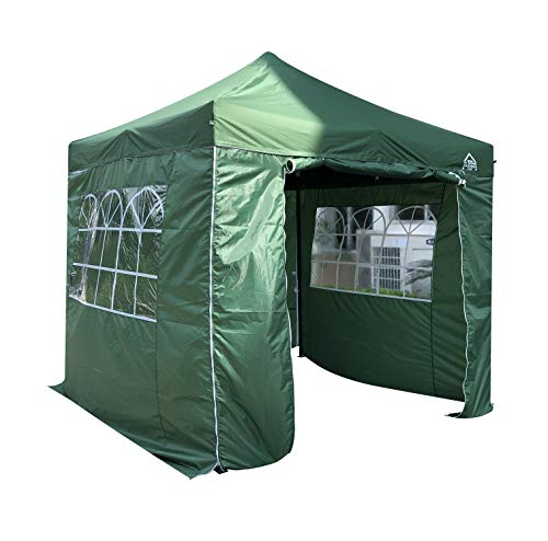 All Seasons Gazebos 2.5 x 2.5m Heavy Duty, Fully Waterproof Pop up Gazebo With 4 Side Walls (Green)