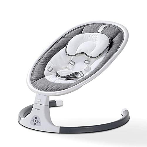 Bebé eléctrico, diseño de cinturón de asiento de 5 puntos, columpio de nacimiento con muñeca de peluche, plegable a tamaño compacto, es el mejor regalo para bebés recién nacidos de 0 a 24 meses WDH666