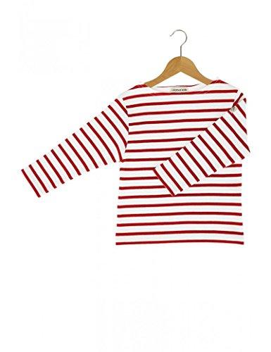 Armor Lux | Loctudy Kids Shirt, gestreift - Weiß/Rot - Größe 12 Jahre