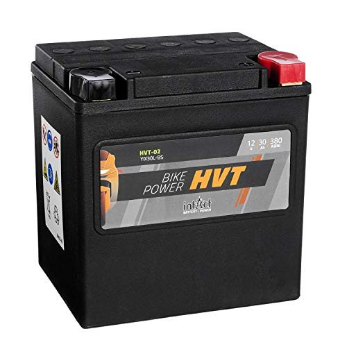 Intakt Bike Bull Motorradbatterie HVT 02 SLA 12 V 30 AH 550 A (YIX30L-BS)