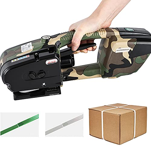 BAOSHISHAN Electric Strapping Tool for 1/2in - 5/8in PP/PET Straps Battery Powered Automatic...