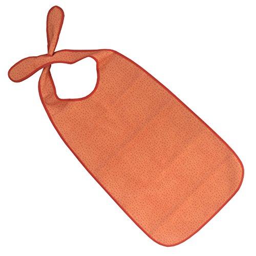 PFLEGE-POINT® Kleidungsschutz/Ess-Schürze für Erwachsene mit Steckverschluss, wasserdicht (orange)
