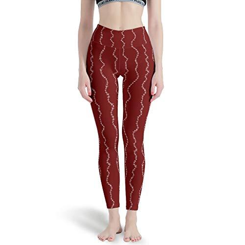 Damen Halloween Weihnachten Alptraum Yoga Leggings Retro High Waist Out Hose Sport - Laufen Damen Yoga Leggings White 4XL