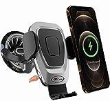 PLP TEK 15 W Qi Soporte de teléfono móvil para coche con función de carga inductiva rápida para boquillas de ventilación redondas, motor automático para Mercedes Clase A B C E sin cargador USB