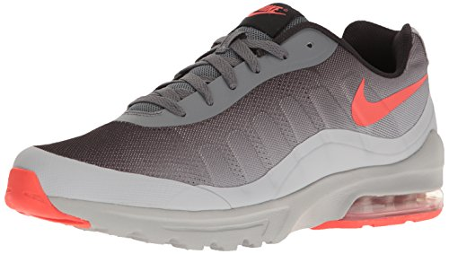 Nike Herren AIR Invigor Print Laufschuhe, Grau (Dunkelgrau/Max Orange/Wolf Grau), 41 EU